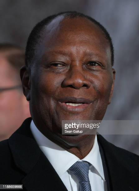 Alassane Ouattara, President of Ivory Coast, arrives for the Compact with Africa summit at the Chancellery on November 19, 2019 in Berlin, Germany....