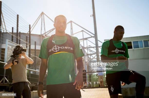 Alassane Plea during a training session of Borussia Moenchengladbach at BorussiaPark on July 15 2018 in Moenchengladbach Germany