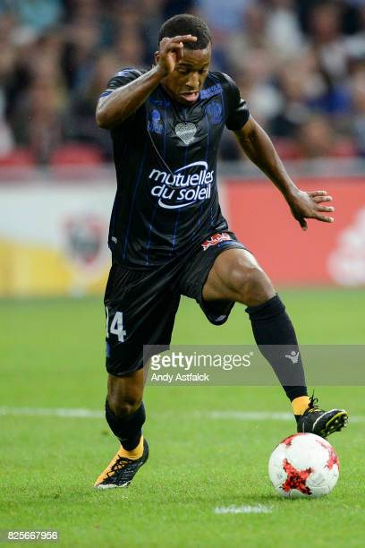 Alassane Plea from OSC Nice during the UEFA Champions League Qualifying Third Round Second Leg match between AJAX Amsterdam and OSC Nice at Amsterdam...