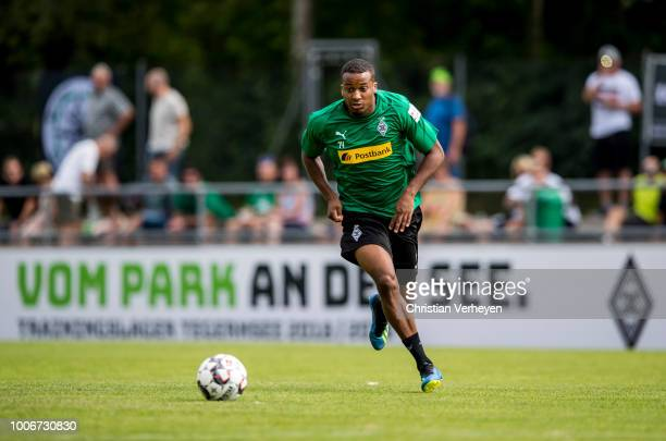 Alassane Plea in action during a Training Session at Borussia Moenchengladbach Training Camp at Stadion am Birkenmoos on July 28 2018 in RottachEgern...