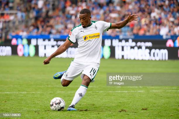 Alassane Plea of Borussia Moenchengladbach controls the ball during the HHotels Cup match between VfL Bochum and Borussia Moenchengladbach at Vonovia...