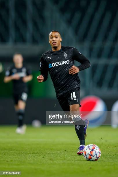 Alassane Plea of Borussia Moenchengladbach in action during the Group B UEFA Champions League match between Borussia Moenchengladbach and Shakhtar...