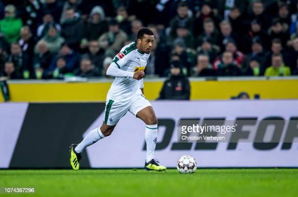 Alassane Plea of Borussia Moenchengladbach in action during the Bundesliga match between Borussia Moenchengladbach and 1FC Nuernberg at BorussiaPark...