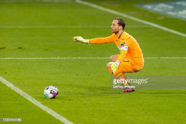 Alassane Plea of Borussia Moenchengladbach scores his team's first goal during the Bundesliga match between TSG Hoffenheim and Borussia...