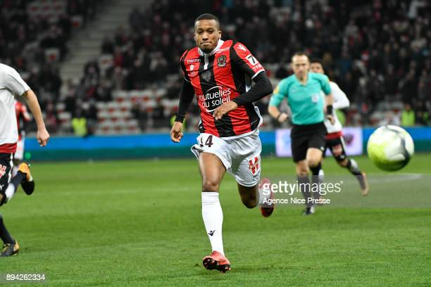 Alassane Plea of Nice during the Ligue 1 match between OGC Nice and FC Girondins de Bordeaux at Allianz Riviera on December 16 2017 in Nice