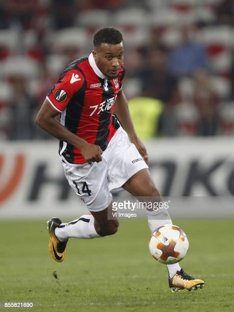 Alassane Plea of OCG Nice during the UEFA Europa League group K match match between OGC Nice and Vitesse Arnhem on September 28 2017 at the Allianz...
