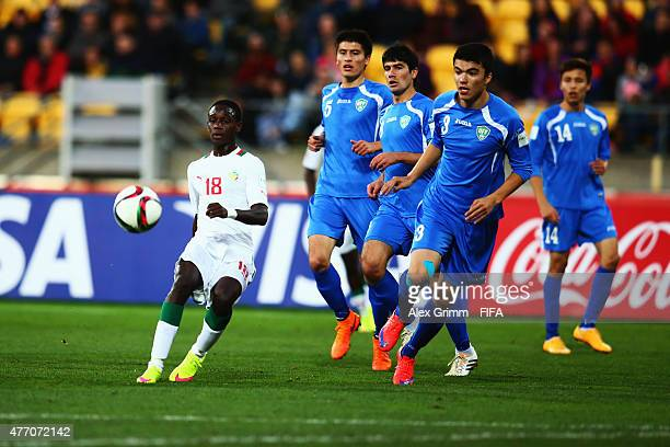 Alassane Sow of Senegal passes the ball during the FIFA U20 World Cup New Zealand 2015 Quarter Final match between Senegal and Uzbekistan at...