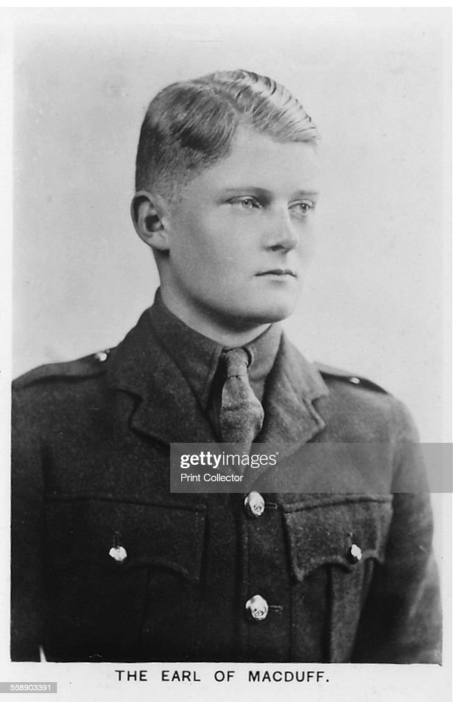 Alastair Arthur Windsor, 2nd Duke of Connaught and Strathearn (1914-1943), 1937. He was a member of the British Royal Family, a great-grandson of Queen Victoria through his father and also her great-great-grandson through his mother. From 1917 he was known as the Earl of Macduff, this being the courtesy title he had as heir to his mother's dukedom, until 1942, when he inherited his grandfather's dukedom and became Duke of Connaught and Strathearn. Card No 18 of 48 from Coronation Souvenir cigarette cards produced for Tournament Cigarettes. [RJ Lea Ltd, Manchester, 1937]