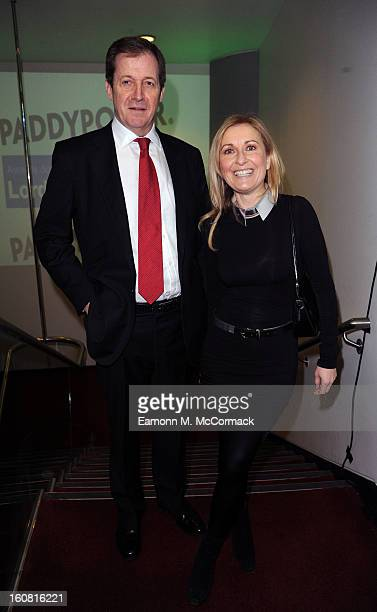 Alastair Campbell and Fiona Phillips attend The Political Book Awards 2013 at BFI IMAX on February 6 2013 in London England