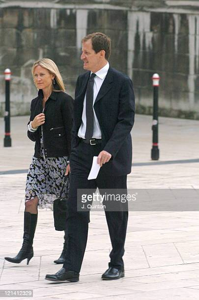 Alastair Campbell and guest during Bill Clinton My Life Book Launch Party Arrivals at The Guildhall in London Great Britain