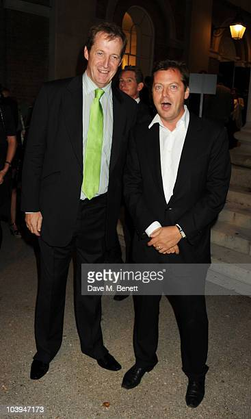 Alastair Campbell and Matthew Freud attend party to celebrate 40 years of Saatchi hosted by Saatchi Saatchi and MC Saatchi at the Saatchi Gallery on...