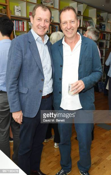 Alastair Campbell and Tom Baldwin attend the launch of new book 'Ctrl Alt Delete' by Tom Baldwin at Ink 84 on July 12 2018 in London England