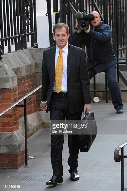 Alastair Campbell arrives for The Leveson Inquiry at The Royal Courts of Justice on November 30 2011 in London England