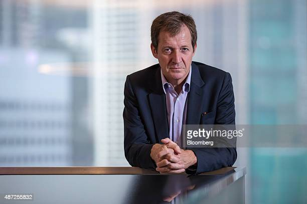 Alastair Campbell author and former director of communications for UK Prime Minister Tony Blair poses for a photograph before a Bloomberg Television...