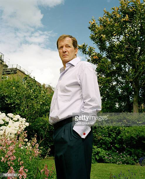 Alastair Campbell former Press Secretary to Prime Minister Tony Blair pictured in his garden at his home in London for TIME Europe Campbell's memoirs...
