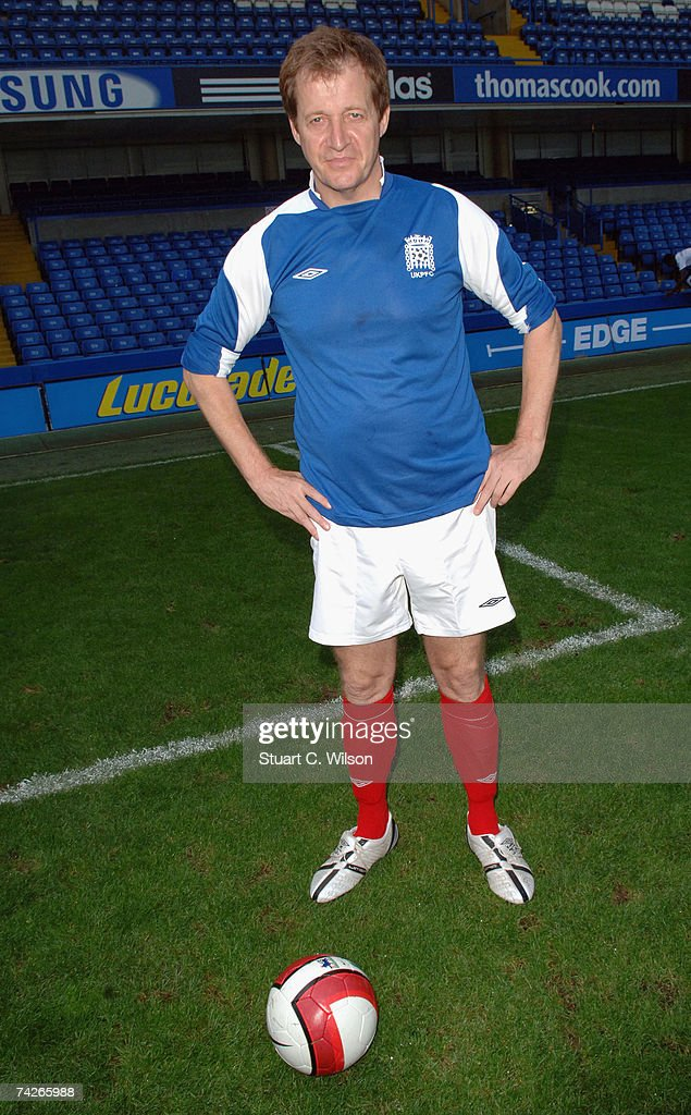 Celebrities and mps support cystic fibrosis with a charity alastair campbell poses before playing football for the cystic fibrosis trust invitation xi celebrity team against stopboris Image collections