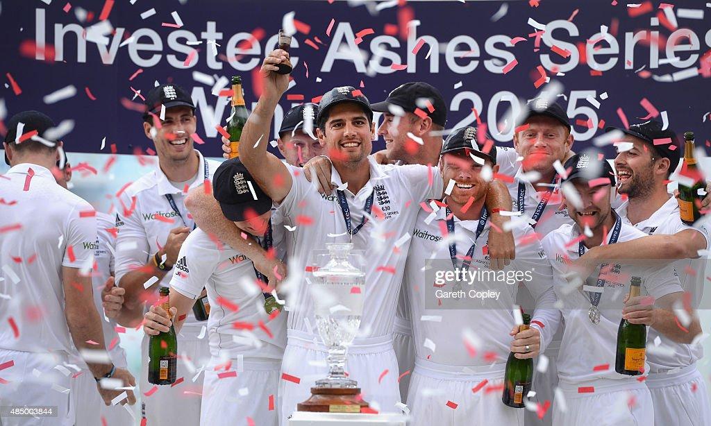 England v Australia: 5th Investec Ashes Test - Day Four : News Photo