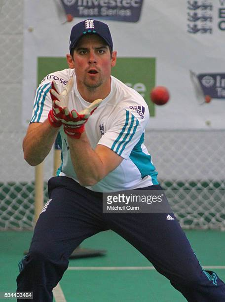 Alastair Cook during England Nets session ahead of the 2nd Investec Test match between England and Sri Lanka at Emirates Durham ICG on May 26 2016 in...