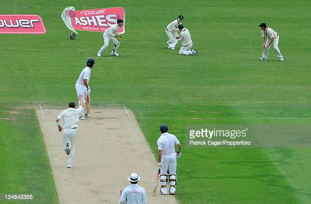 Alastair Cook is caught by Ricky Ponting off Peter Siddle England v Australia 5th Test The Oval Aug 09