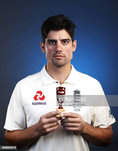 Alastair Cook of England poses during the 2017/18 England Ashes Squad portrait session at the WACA on November 1 2017 in Perth Australia