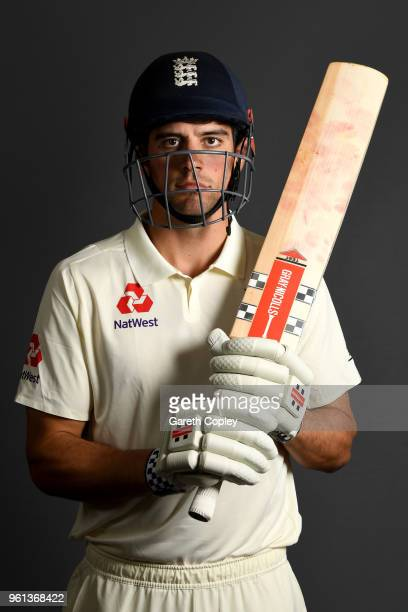 Alastair Cook of England poses for a portrait at Lord's Cricket Ground on May 22 2018 in London England