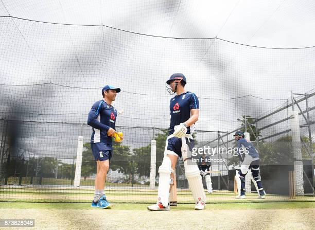 Alastair Cook of England walks from the nets after finishing batting practice during an England nets session at Riverway Stadium on November 14 2017...