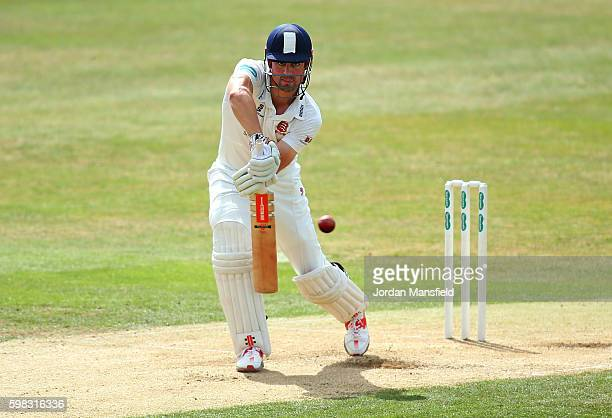 Alastair Cook of Essex bats during day two of the Specsavers County Championship Division Two match between Essex and Worcestershire at the Ford...