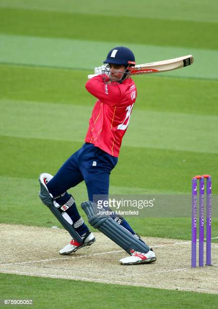 Alastair Cook of Essex bats during the Royal London OneDay Cup match between Surrey and Essex at The Kia Oval on May 2 2017 in London England
