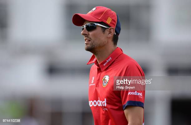 Alastair Cook of Essex Eagles looks on during the Royal London OneDay Cup match between Essex Eagles and Yorkshire Vikings at the Cloudfm County...
