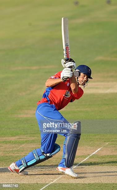 Alastair Cook of Essex in action as he scores a century during the Twenty20 Cup match between Surrey and Essex at The Brit Oval on June 25, 2009 in...