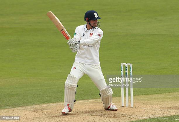 Alastair Cook of Essex in action batting during day two of the Specsavers County Championship match between Essex and Gloucestershire at the Ford...