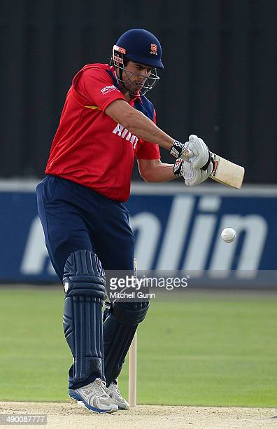 Alastair Cook of Essex plays a shot during the one day match between The Essex Eagles and Sri Lanka played at the County Cricket Ground on May 13...