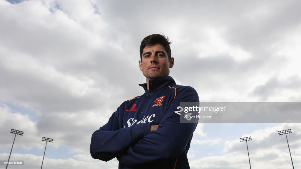 Alastair Cook poses for a portrait during the Essex CCC photocall at Cloudfm County Ground on April 5, 2017 in Chelmsford, England.