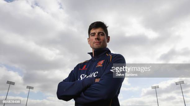 Alastair Cook poses for a portrait during the Essex CCC photocall at Cloudfm County Ground on April 5 2017 in Chelmsford England