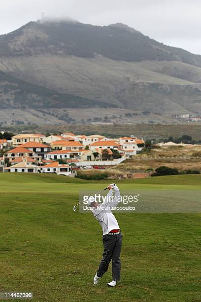 Alastair Forsyth of Scotland plays his second shot on the 3rd hole during day two of the Madeira Islands Open on May 20 2011 in Porto Santo Island...