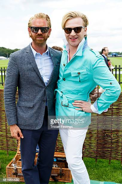 Alastair Guy and Henry Conway attend the Royal Salute Coronation Cup with Piaget the official timekeeper partner at Guards Polo Club on July 25 2015...