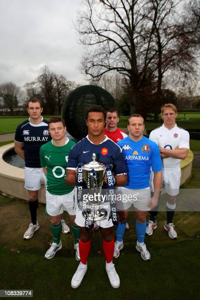 Alastair Kellock of Scotland Brian O'Driscoll of Ireland Thierry Dusautoir of France Matthew Rees of Wales Leonardo Ghiraldini of Italy and Lewis...
