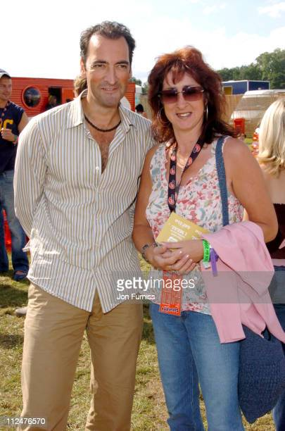 Alastair McGowan and sister Kaye at the Virgin Mobile Louder Lounge V Festival