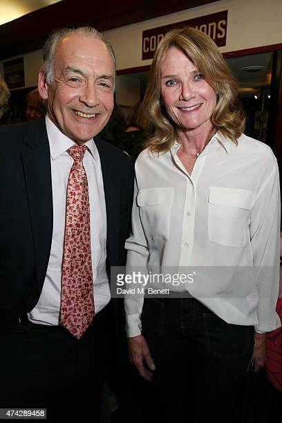 Alastair Stewart and Lady MaryGaye Stewart attend the press night performance of 'An Evening With Lucian Freud' at the Leicester Square Theatre on...