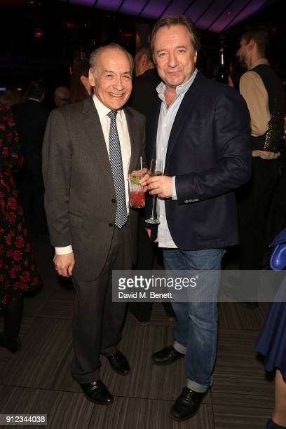 Alastair Stewart and Neil Pearson attend the Costa Book Awards at Quaglino's on January 30 2018 in London England