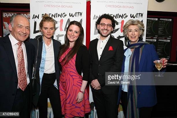 Alastair Stewart Cressida Bonas LauraJane Foley Benjamin Ramm and Maureen Lipman attend the press night performance of 'An Evening With Lucian Freud'...
