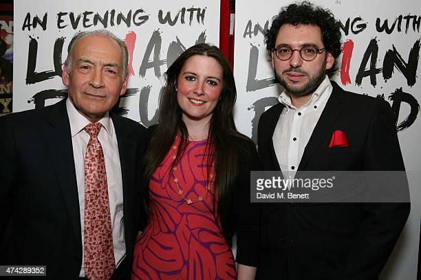 Alastair Stewart LauraJane Foley and Benjamin Ramm attend the press night performance of 'An Evening With Lucian Freud' at the Leicester Square...