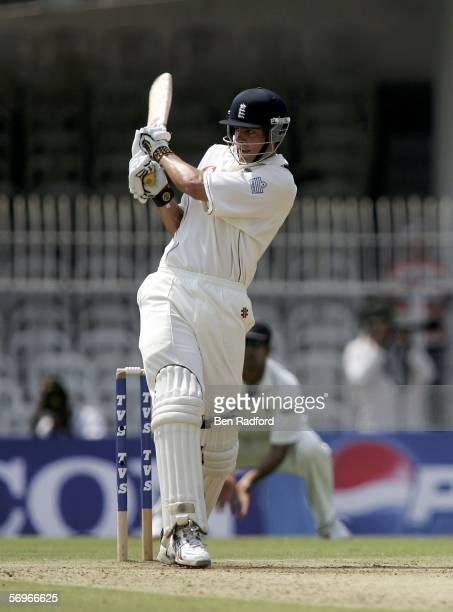 Alastiar Cook of England batting during day one of The First Test between India and England at the VCA Stadium on March 1, 2006 in Nagpur, India.