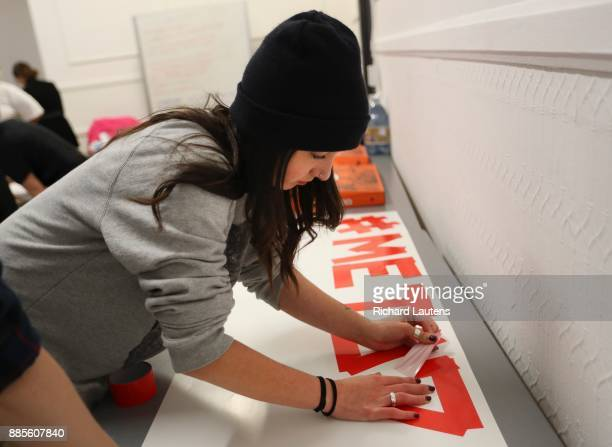 Alathea MilneHines is the lead organizer of the Me Too march in Toronto She and other helpers made posters and signs at the 519 Community Centre on...