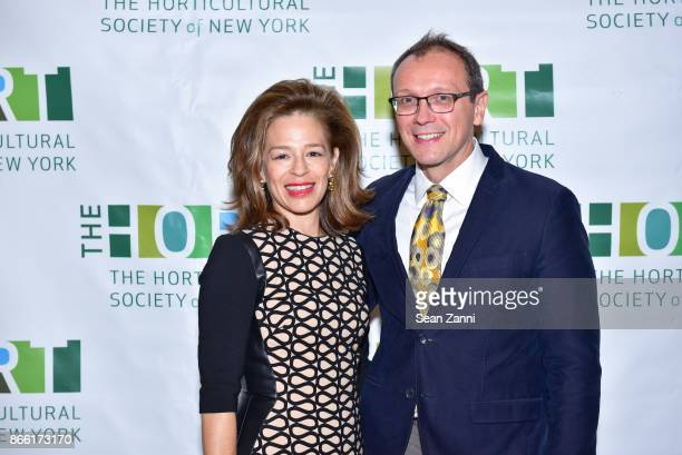 Alatia Bradley Bach and Chef Bill Telepan attend Putting Good Food on the Table The Horticultural Society of New York's Annual Fall Luncheon Putting...