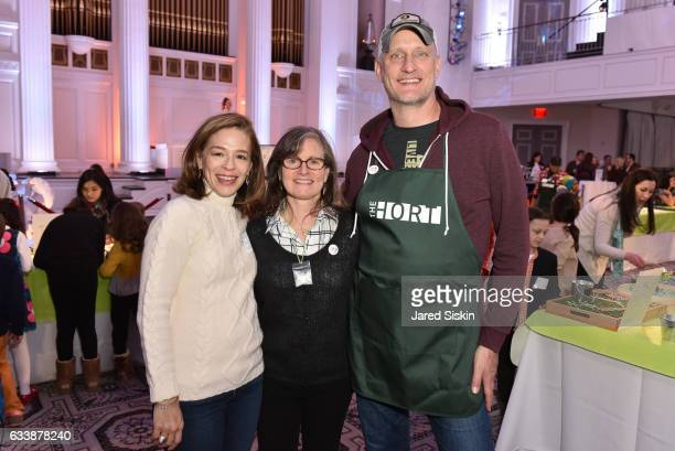 Alatia Bradley Bach Sara Hobel and George Pisegna attend The Hort's 5th Annual Green Bean Bash at 583 Park Avenue on February 4 2017 in New York City