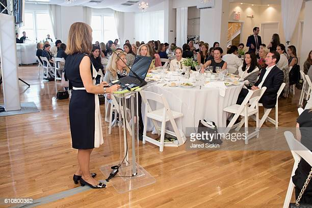 Alatia Bradley Bach speaks at The Hort's 4th Annual Green Family Circle Luncheon and Lecture at Midtown Loft Terrace on September 27 2016 in New York...