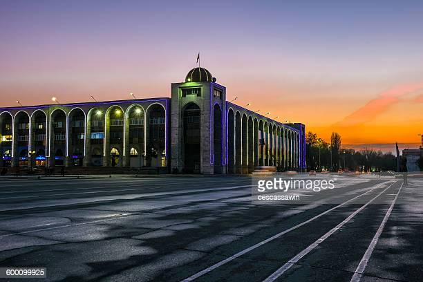 ala-too square, bishkek, kyrgyzstan, central asia - bishkek stock pictures, royalty-free photos & images