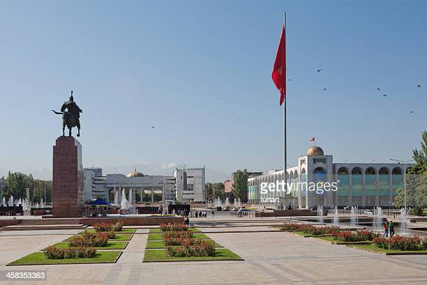 ala-too square, bishkek, kyrgyzstan - kyrgyzstan stock pictures, royalty-free photos & images