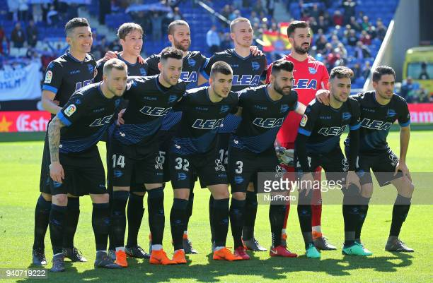 Alaves team during the match between RCD Espanyol and Depoortivo Alaves for the round 30 of the Liga Santander played at the RCD Espanyol Stadium on...